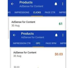 AdSense revenue