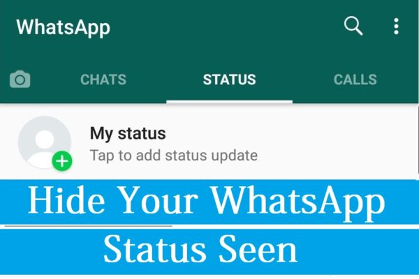hide whatsapp status seen