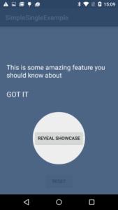 showcase intro android studio